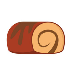 Roll colorful bakery product icon vector