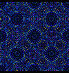 Seamless geometrical gemstone mandala mosaic vector
