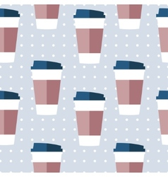 seamless paper coffee glasses vector image