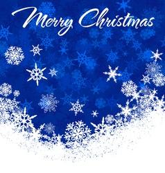 Snowflakes chrismas card blue 2 a vector