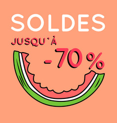 Summer sale background with watermelon vector