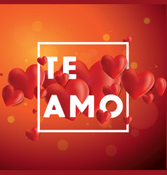 Te amo background vector