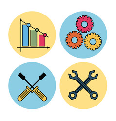 technical service icons vector image
