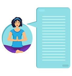 Training yoga woman vector