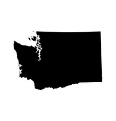 Washington state map silhouette vector