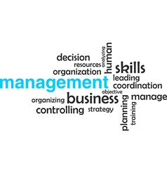 Word cloud management vector