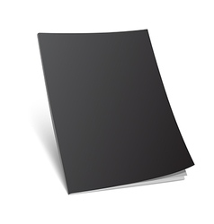 blank standing black magazine cover vector image vector image