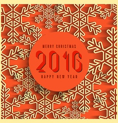 Merry christmas 2016 happy new year text winter vector image vector image