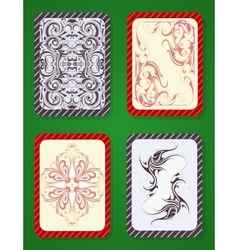 Playing card deck design vector image