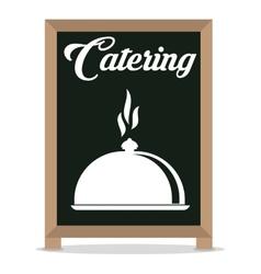 catering service restaurant cloche board vector image