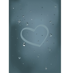 drops on glass vector image