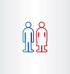 line symbols mand and woman toilet vector image