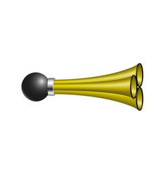 triple air horn in orange design vector image