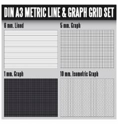 DIN A3 metric set vector image vector image