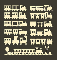 game gift kids train silhouette travel vector image vector image