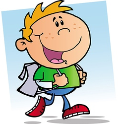 Happy School Boy vector image vector image