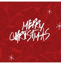 Merry Christmas Lettering Stack of firewoods vector image