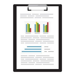 Report with graphs vector image vector image