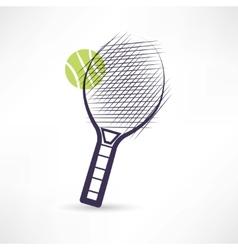 tennis racket icon vector image vector image