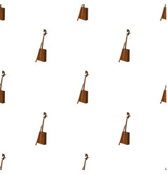 Wooden musical instruments of mongol national vector