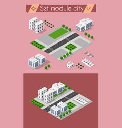 cityscape design elements vector image vector image