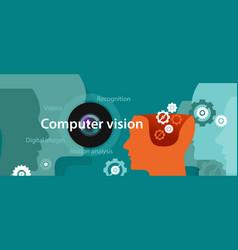 computer vision technology digital vector image
