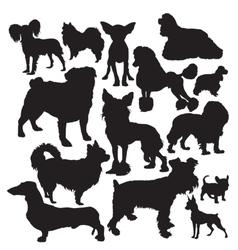 Decorative dogs vector