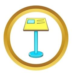 Information board icon vector image