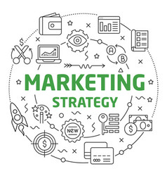 marketing strategy linear slide for vector image vector image