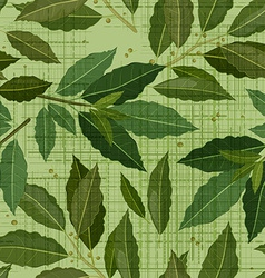 seamless texture of bay leaf vector image