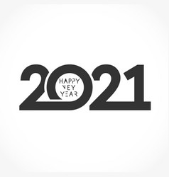 2021 straight simple monochrome round vector image