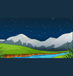 a nature template at night vector image