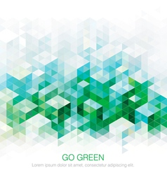 Abstract Green backgrounds vector image