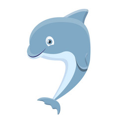 adorable dolphin icon cartoon style vector image