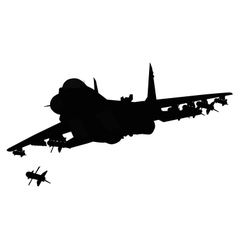 Aircraft silhouette vector image