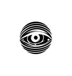 All seeing eye theme logo template vector