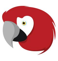Ara parrot on white background vector