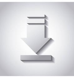Arrow download file icon vector