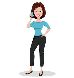 Businesswoman in casual clothes vector