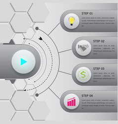 Button infographic option template vector
