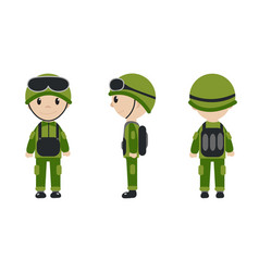 Cartoon character of the worker soldier vector