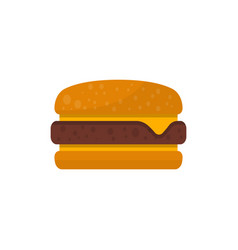 Cheeseburger isolated icon in flat style vector
