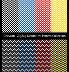 chevron zigzag collection vector image