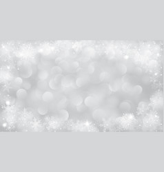 Christmas background with frame of snowflakes vector