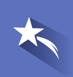 christmas star icon with shade on blue background vector image