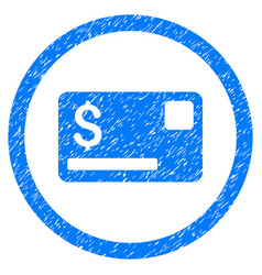 Credit card rounded grainy icon vector