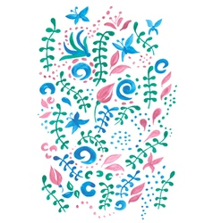 Cute card with a floral print vector image