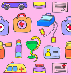 Doodle of medical colorful design vector
