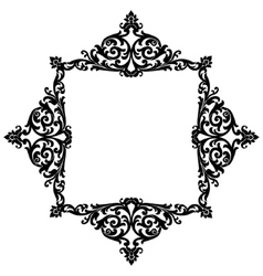 Elegant decorative frame vector image