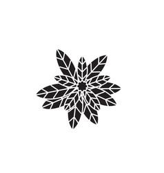 eucalyptus black concept icon eucalyptus vector image